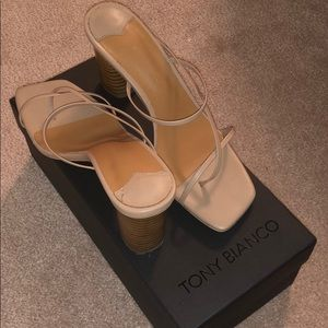 Size 5.5 TONY BIANCO heeled sandals 7CM height